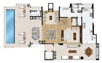 Cobertura duplex (piso superior) 4 suítes 430 m²   Praça das Águas – Apartamento no  Tatuapé - São Paulo - São Paulo