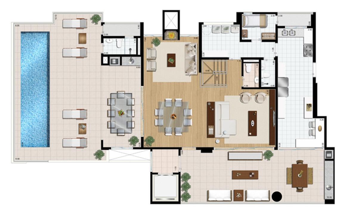 Cobertura duplex (piso superior) 4 suítes 430 m²   Praça das Águas – Apartamentono  Tatuapé - São Paulo - São Paulo