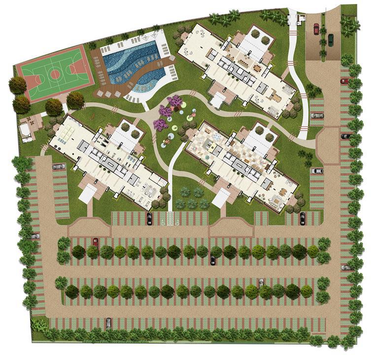 01---IMPLANTACAO---REV00-(1) | Jardim de Toscana – Apartamentoem  Altos do Calhau - São Luís - Maranhão