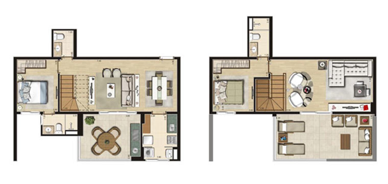 Cobertura 127m² privativos | Thera Residence – Apartamentona  Berrini - São Paulo - São Paulo