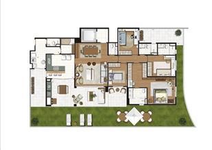 Planta ilustrada do Giardino de 313 m² | Luzes da Mooca - Villa Solare – Apartamento na  Mooca - São Paulo - São Paulo