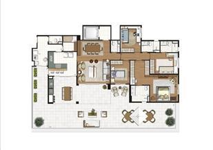 Planta ilustrada do Terrazzo de 261 m² | Luzes da Mooca - Villa Solare – Apartamento na  Mooca - São Paulo - São Paulo