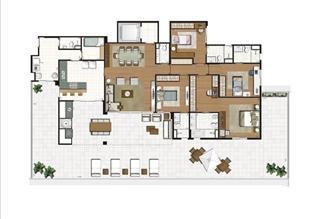 Planta ilustrada do Terrazzo de 319 m² | Luzes da Mooca - Villa Solare – Apartamento na  Mooca - São Paulo - São Paulo