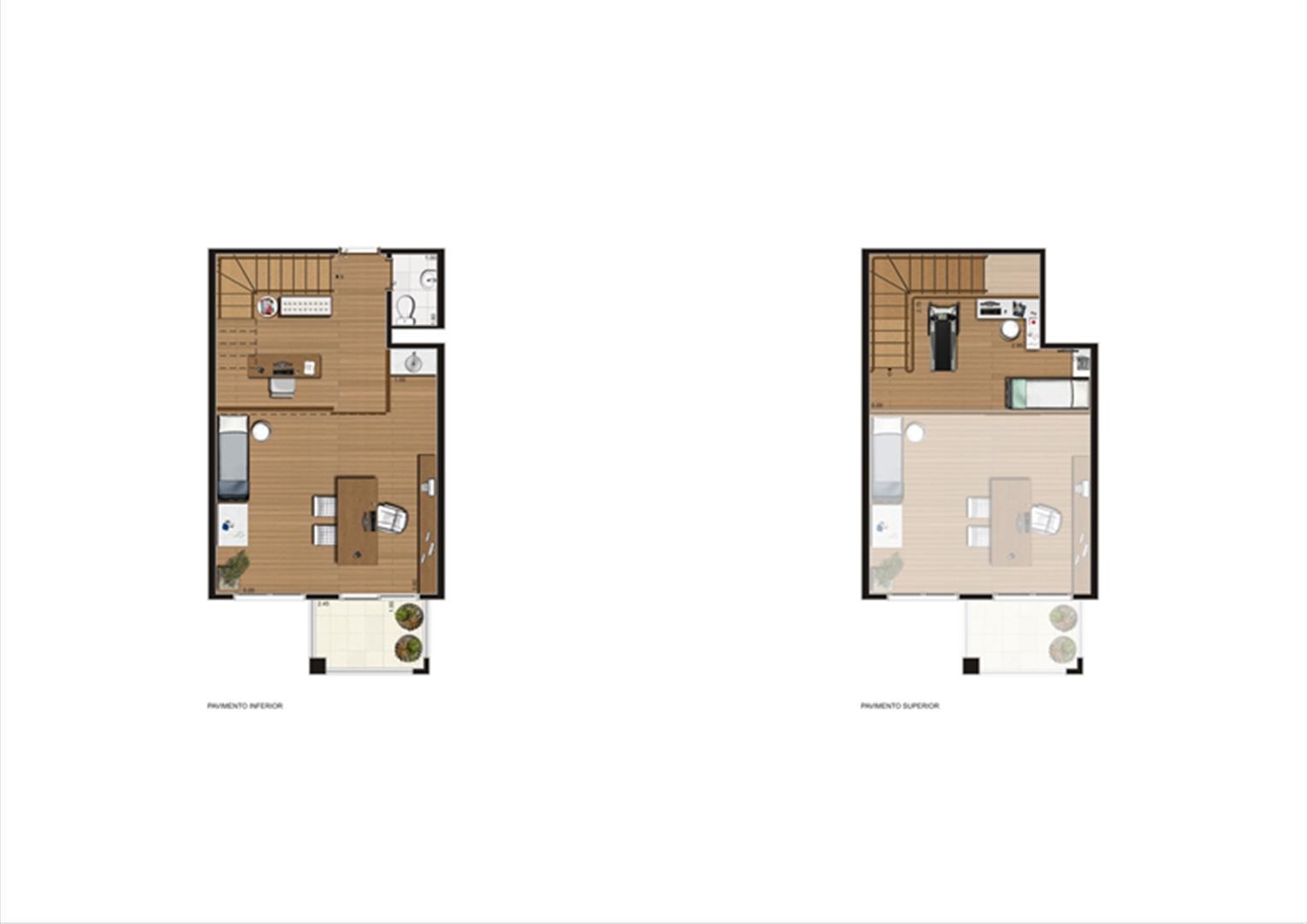 Duplex de 57 m² Final 5 | Luzes da Mooca - Atrio Giorno – Salas Comerciais na  Mooca - São Paulo - São Paulo