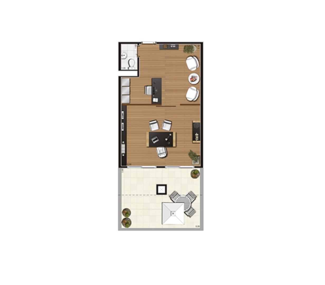 Giardino de 61 m² Finais 21, 22 e 23 | Luzes da Mooca - Atrio Giorno – Salas Comerciais na  Mooca - São Paulo - São Paulo