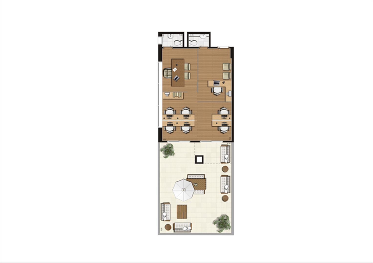 Giardino de 92 m² Final 10 | Luzes da Mooca - Atrio Giorno – Salas Comerciais na  Mooca - São Paulo - São Paulo