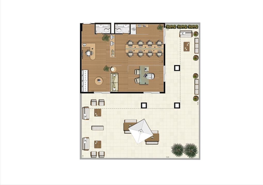Giardino de 208 m² Final 16 | Luzes da Mooca - Atrio Giorno – Salas Comerciaisna  Mooca - São Paulo - São Paulo
