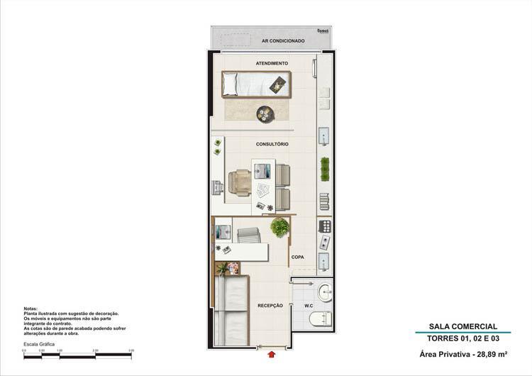 Sala comercial torres 1, 2 e 3 | Nova América Offices – Salas Comerciais no  Nova América - Rio de Janeiro - Rio de Janeiro