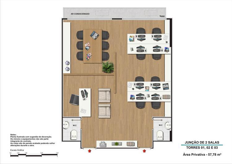 Junção de 2 salas torres 1,2 e 3 | Nova América Offices – Salas Comerciais no  Nova América - Rio de Janeiro - Rio de Janeiro