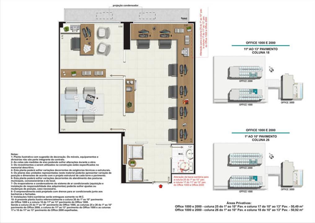 Planta Coluna 26 Torres 1 e 2 | Nova América Offices – Salas Comerciaisno  Nova América - Rio de Janeiro - Rio de Janeiro