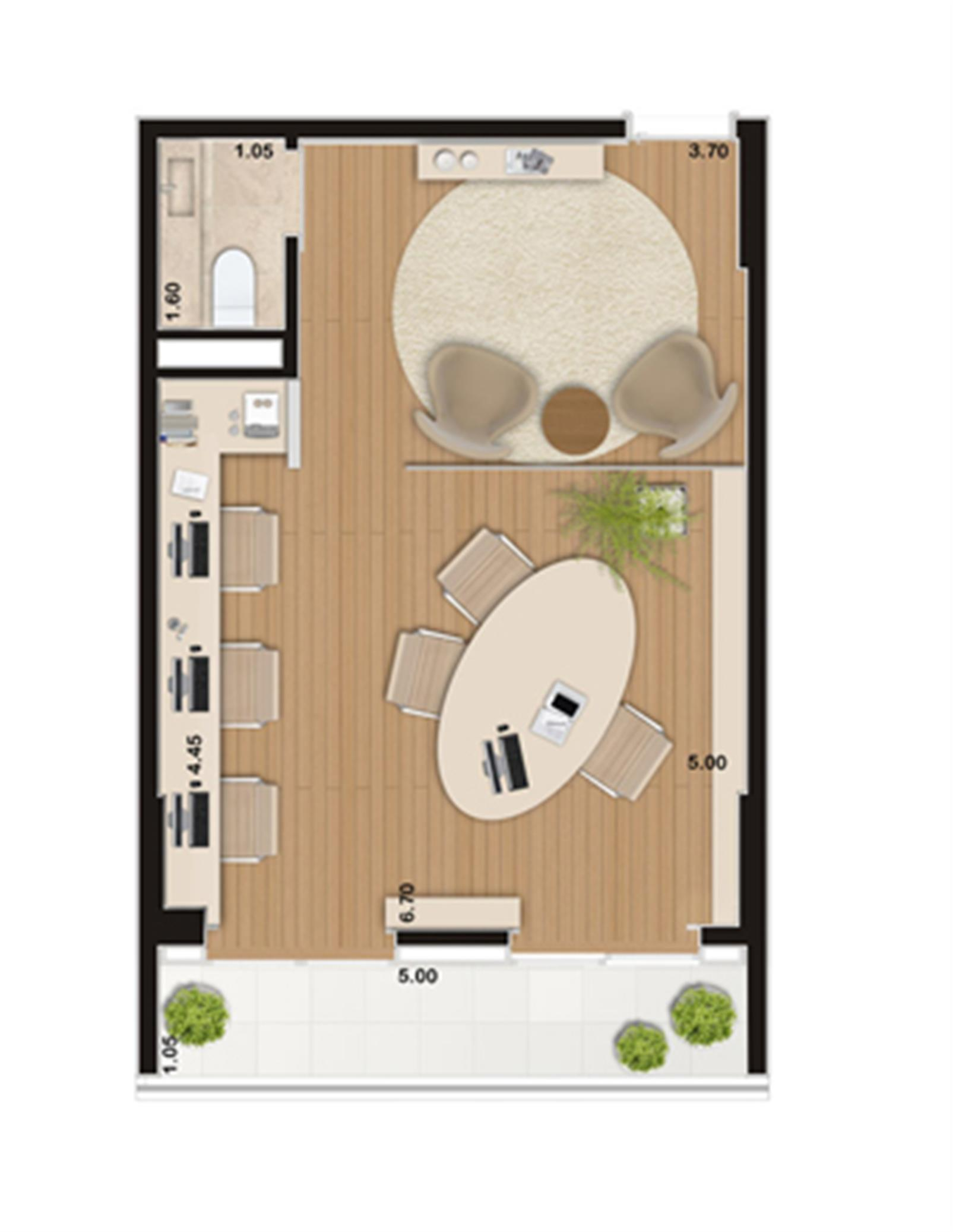 Escritório de 43 m² | Wave – Salas Comerciaisem  Valongo - Santos - São Paulo