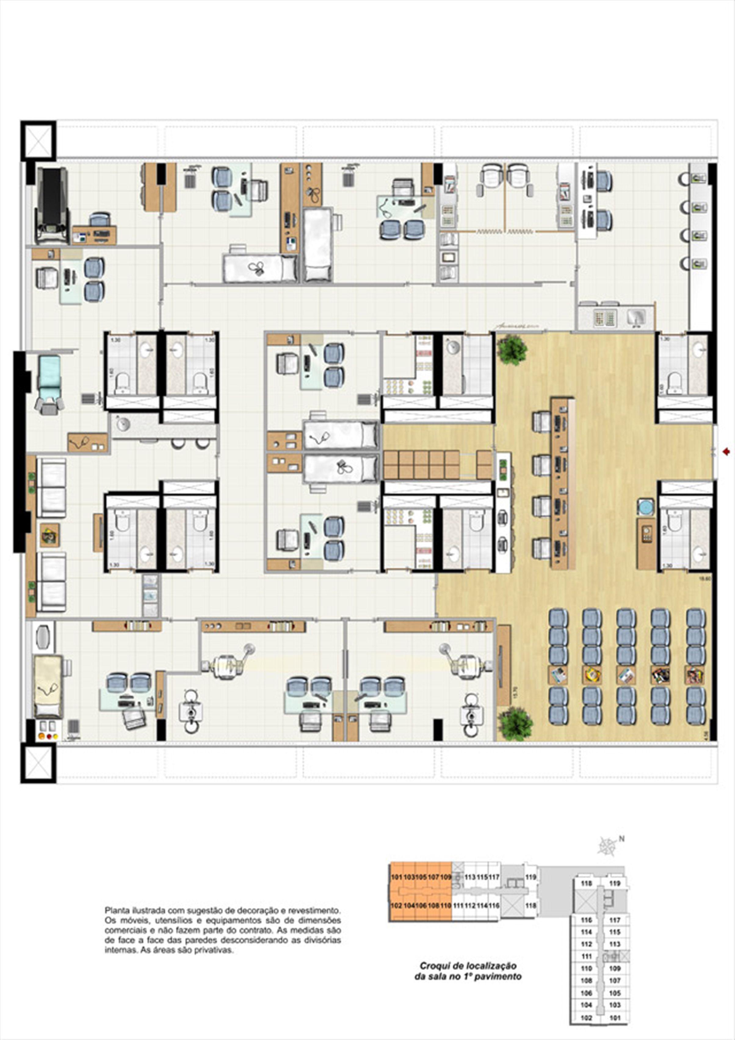 Planta da Sala 10 - Centro Médico | Biosphere – Salas Comerciaisna  Asa Norte  - Brasília - Distrito Federal