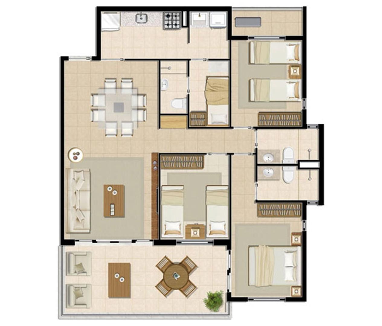 Apartamento Brisa - 104 m² | Mandara Lanai – Apartamento no  Porto das Dunas - Aquiraz - Ceará