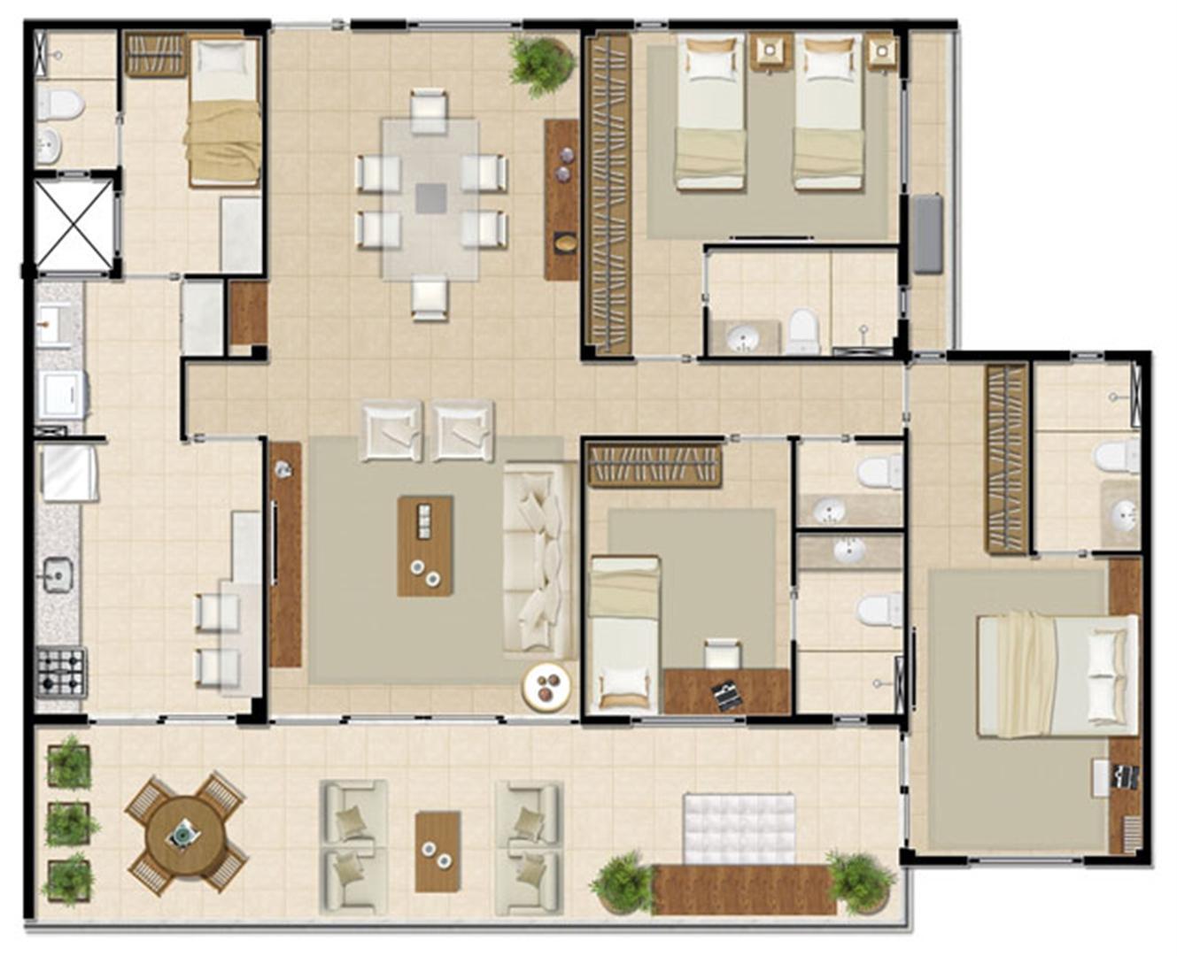Apartamento Mar - 141 m² | Mandara Lanai – Apartamento no  Porto das Dunas - Aquiraz - Ceará