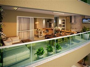 Perspectiva Ilustrada da Varanda Apartamento