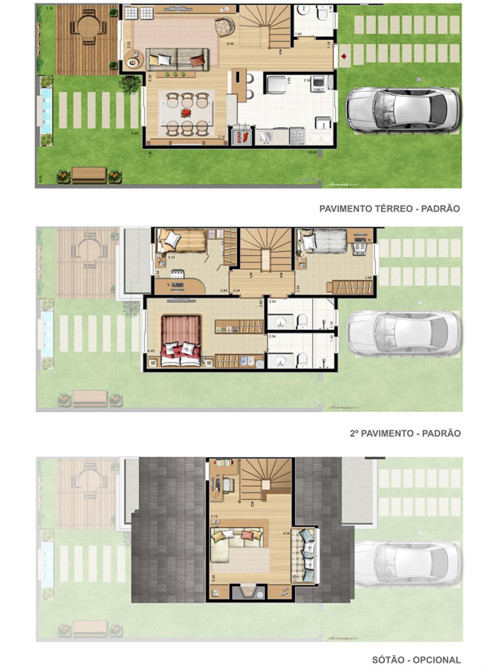Casa Provence   3 dorms. com suíte e opção de sotão.** 171 m² privativos* | Privilege Exclusive Houses – Casano  Canoas - Moinhos de Vento - Canoas - Rio Grande do Sul