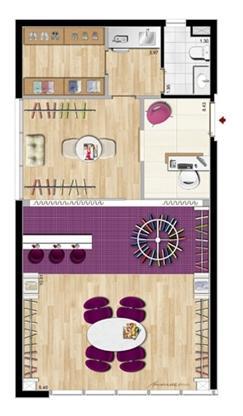 Modelo Ateliê de Moda - 64 m² privativos | Aschneider Absolut Business – Salas Comerciais no  Higienópolis - Porto Alegre - Rio Grande do Sul
