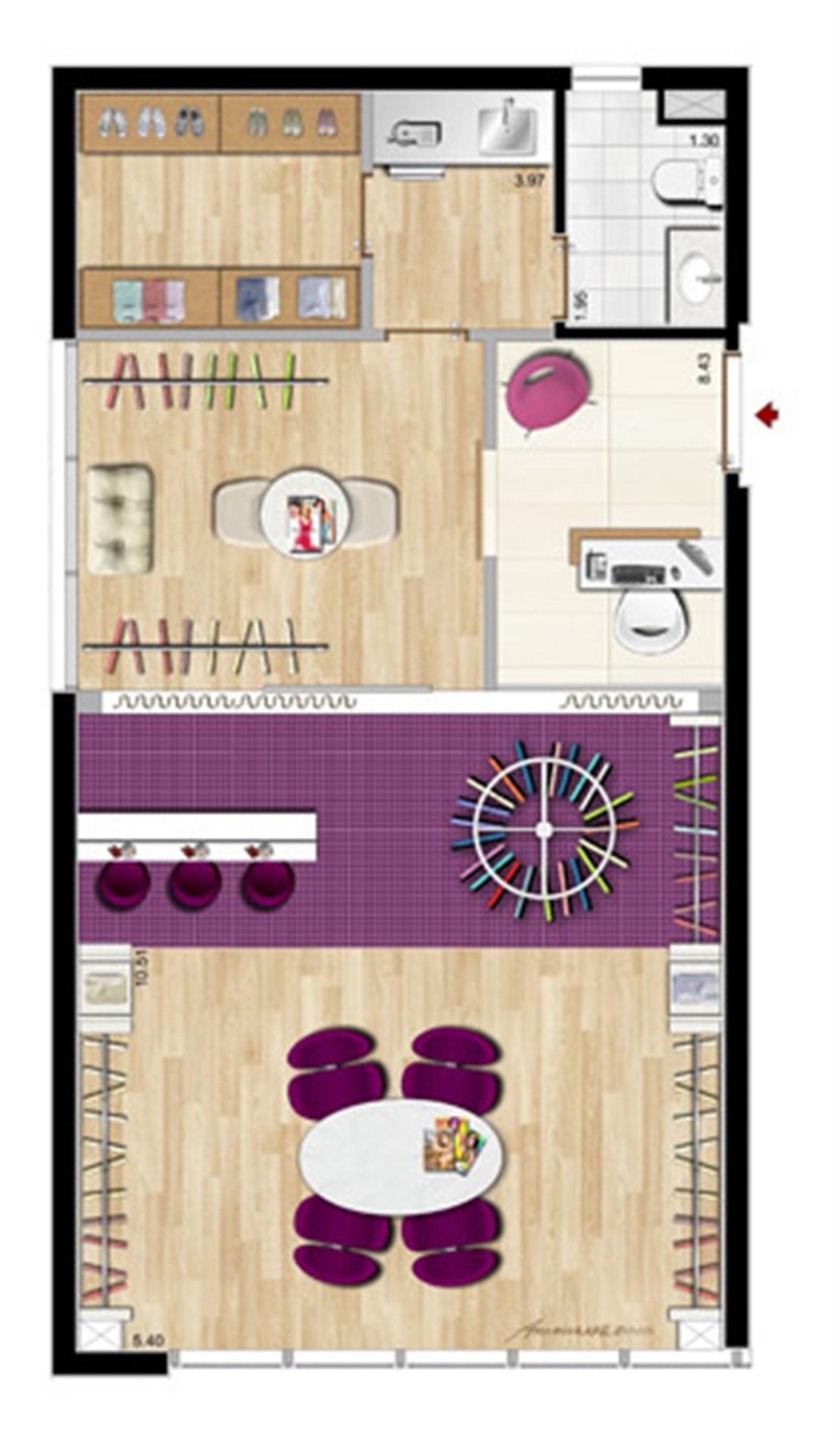 Modelo Ateliê de Moda - 64 m² privativos | Aschneider Absolut Business – Salas Comerciaisno  Higienópolis - Porto Alegre - Rio Grande do Sul