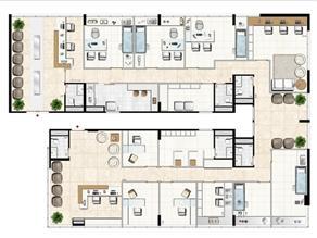 Modelo de Clínica Médica - 333 m² privativos | Aschneider Absolut Business – Salas Comerciais no  Higienópolis - Porto Alegre - Rio Grande do Sul