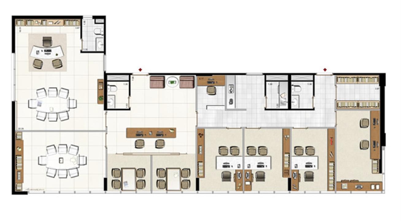 Modelo de Consultoria de Planejamento de Carreira - 195 m² privativos | Aschneider Absolut Business – Salas Comerciaisno  Higienópolis - Porto Alegre - Rio Grande do Sul