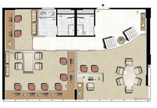 Modelo Escritório de Advocacia - 88 m² privativos | Aschneider Absolut Business – Salas Comerciais no  Higienópolis - Porto Alegre - Rio Grande do Sul
