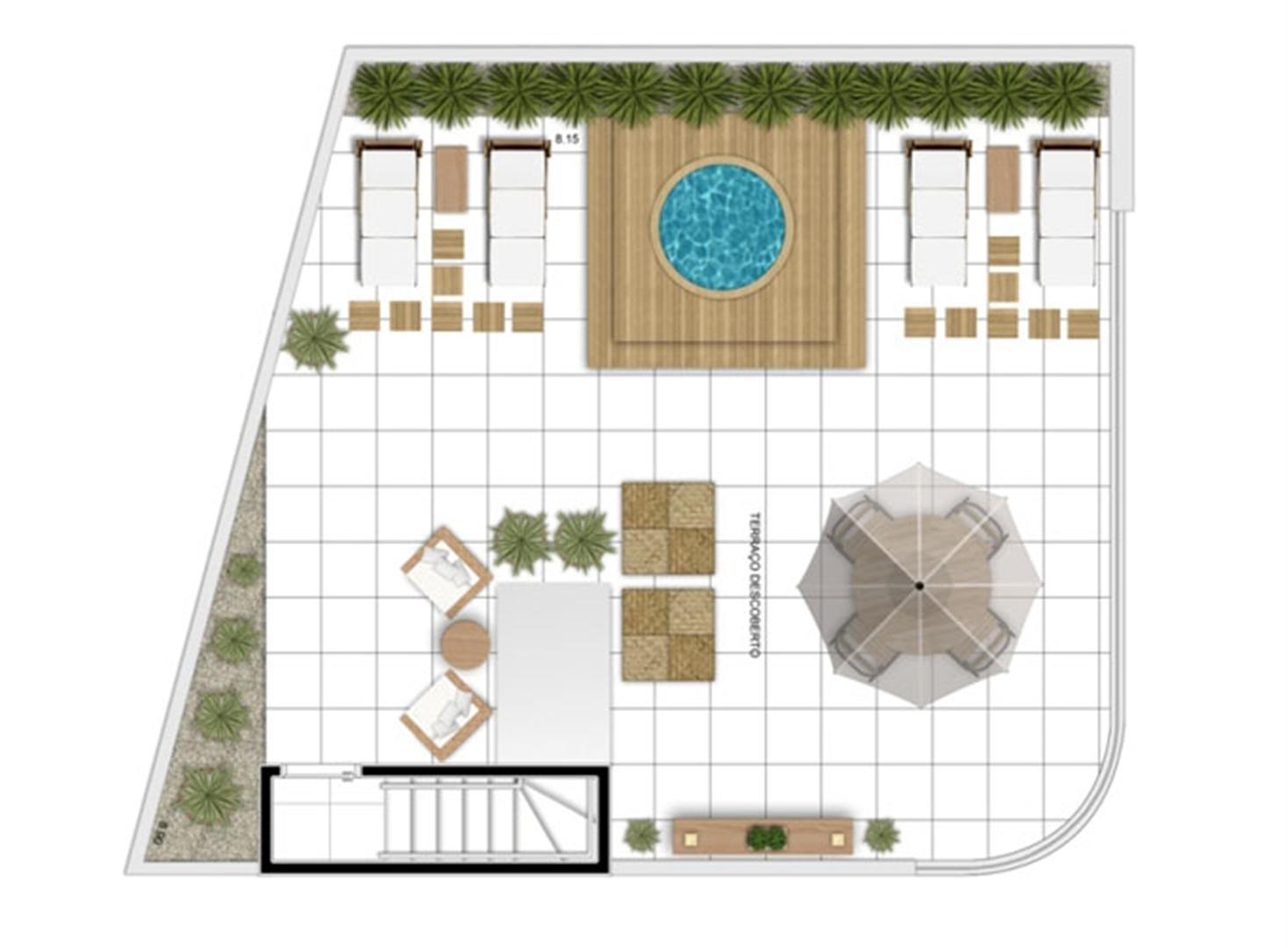 PLANTA - APTO TIPO A - 166 m² DUPLEX SUPERIOR  | In Mare Bali – Apartamento no  Distrito Litoral de Cotovelo - Parnamirim - Rio Grande do Norte