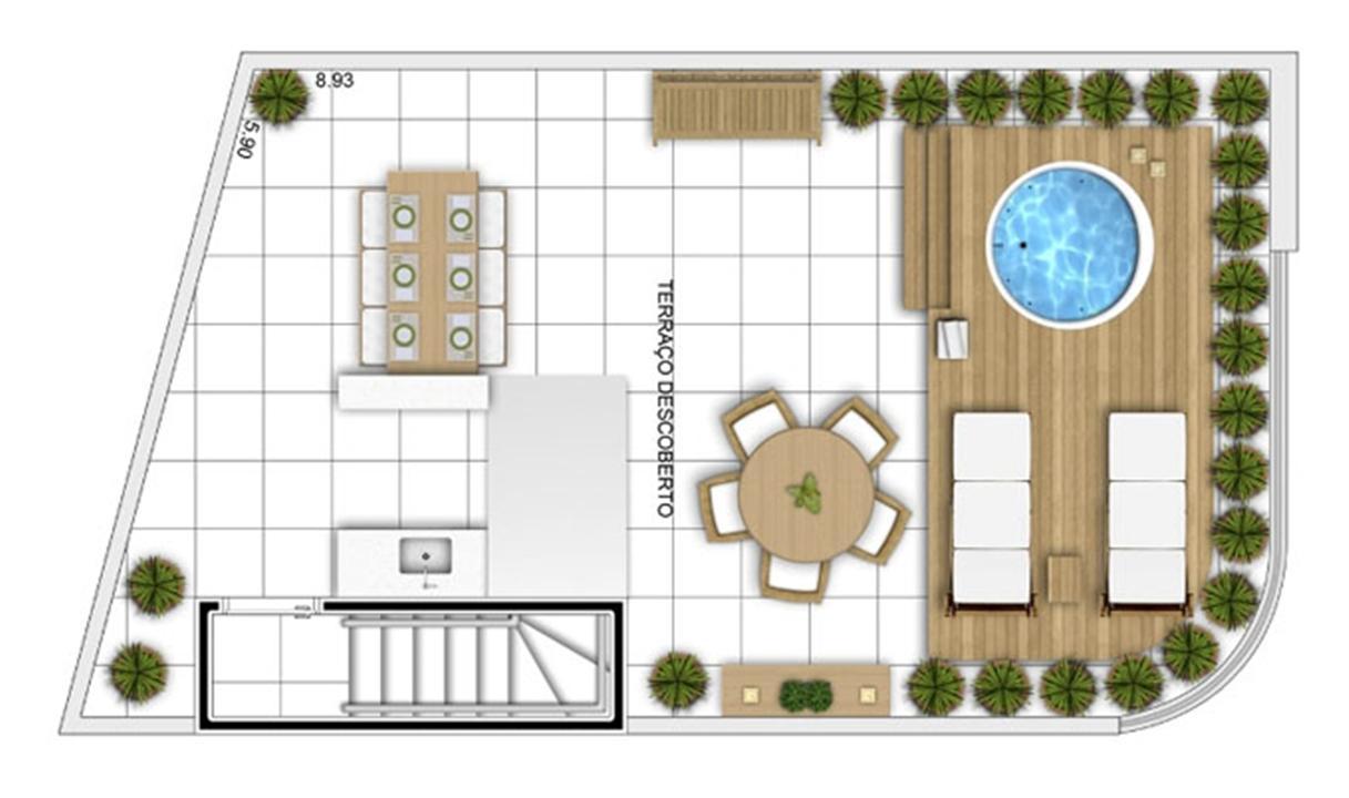 PLANTA - APTO TIPO C - DUPLEX SUPERIOR - 114 m²  | In Mare Bali – Apartamentono  Distrito Litoral de Cotovelo - Parnamirim - Rio Grande do Norte