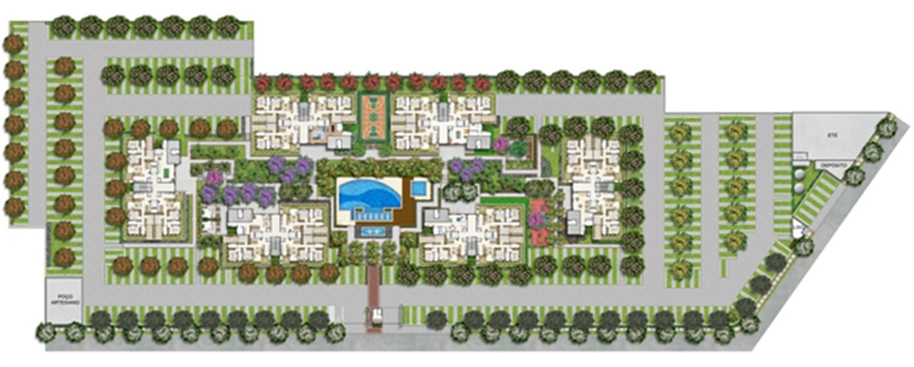 Implantação | Novo Sttilo Home Club – Apartamentona  Nova Parnamirim - Parnamirim - Rio Grande do Norte