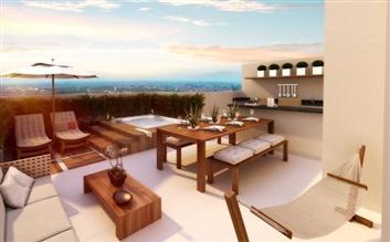 Perspectiva Ilustrada do Terraço do Duplex 132 m²