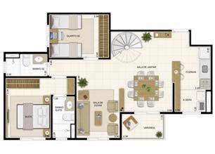 Planta Inferior Duplex 132 m² com Sala Ampliada | Novo Sttilo Home Club – Apartamento na  Nova Parnamirim - Parnamirim - Rio Grande do Norte