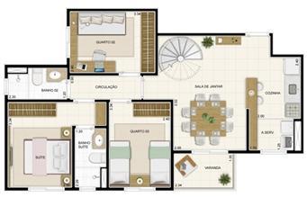 Planta Inferior Duplex 132 m² | Novo Sttilo Home Club – Apartamento na  Nova Parnamirim - Parnamirim - Rio Grande do Norte