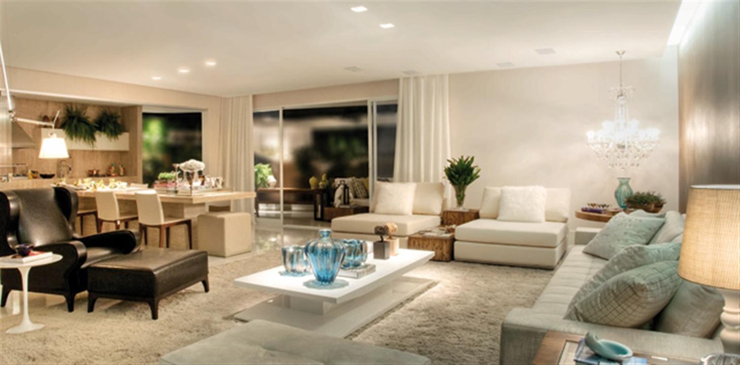 Sala de Estar | Diamond LifeStyle – Apartamentono  Jardim Goiás - Goiânia - Goiás