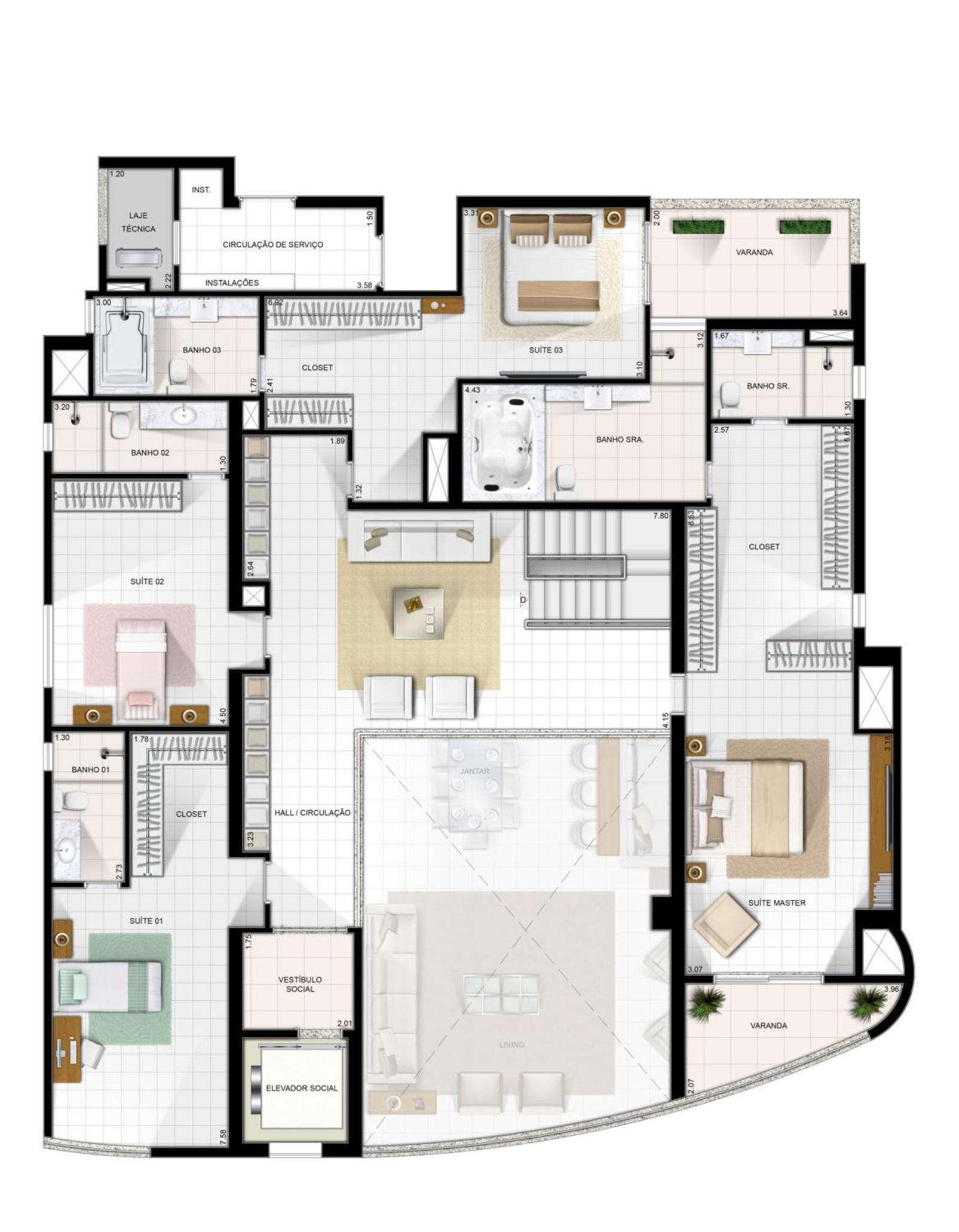 Duplex Superior | Diamond LifeStyle – Apartamentono  Jardim Goiás - Goiânia - Goiás