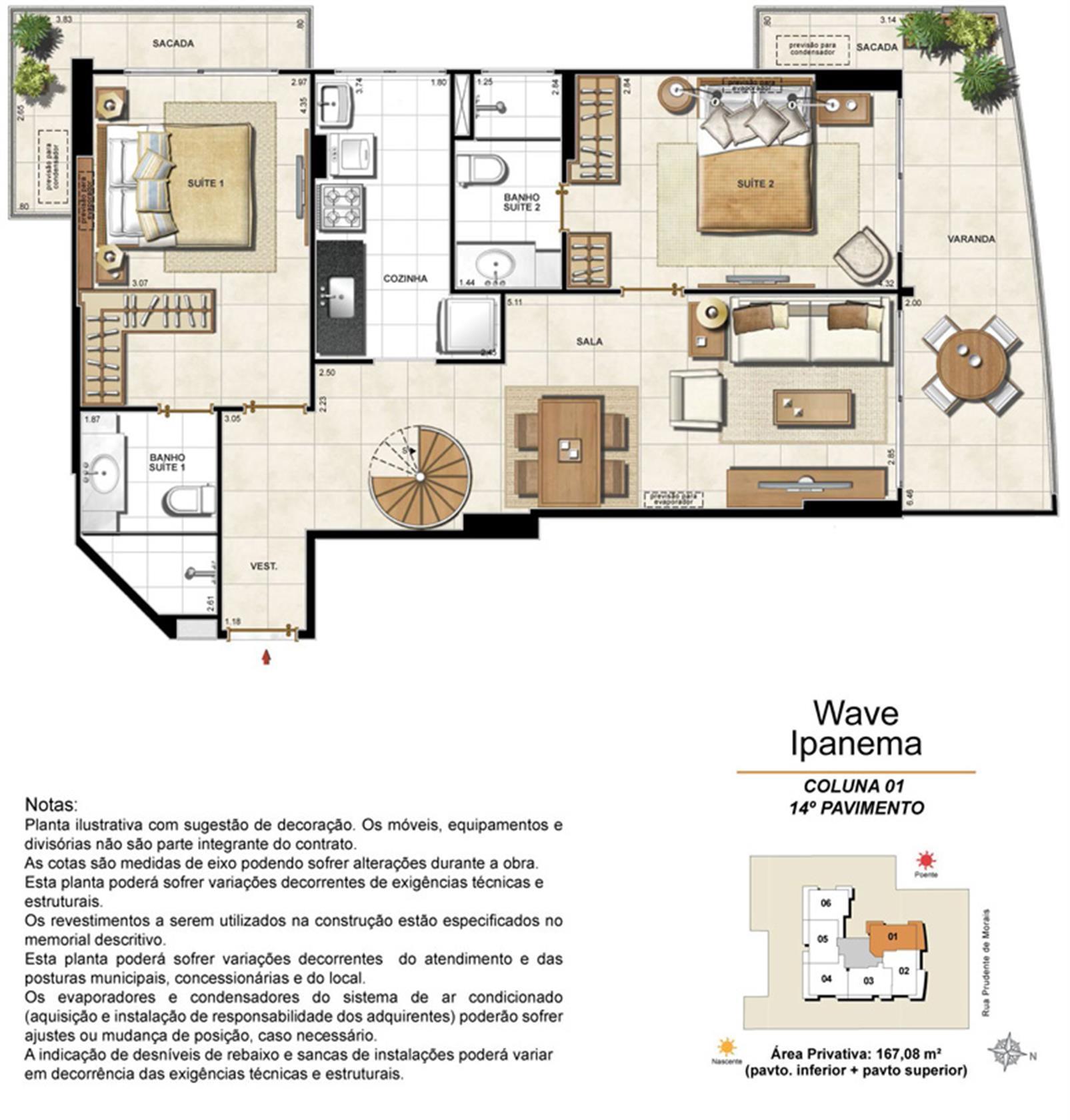 Apartamento Cobertura 1401 | Wave Ipanema – Apartamentoem  Ipanema - Rio de Janeiro - Rio de Janeiro