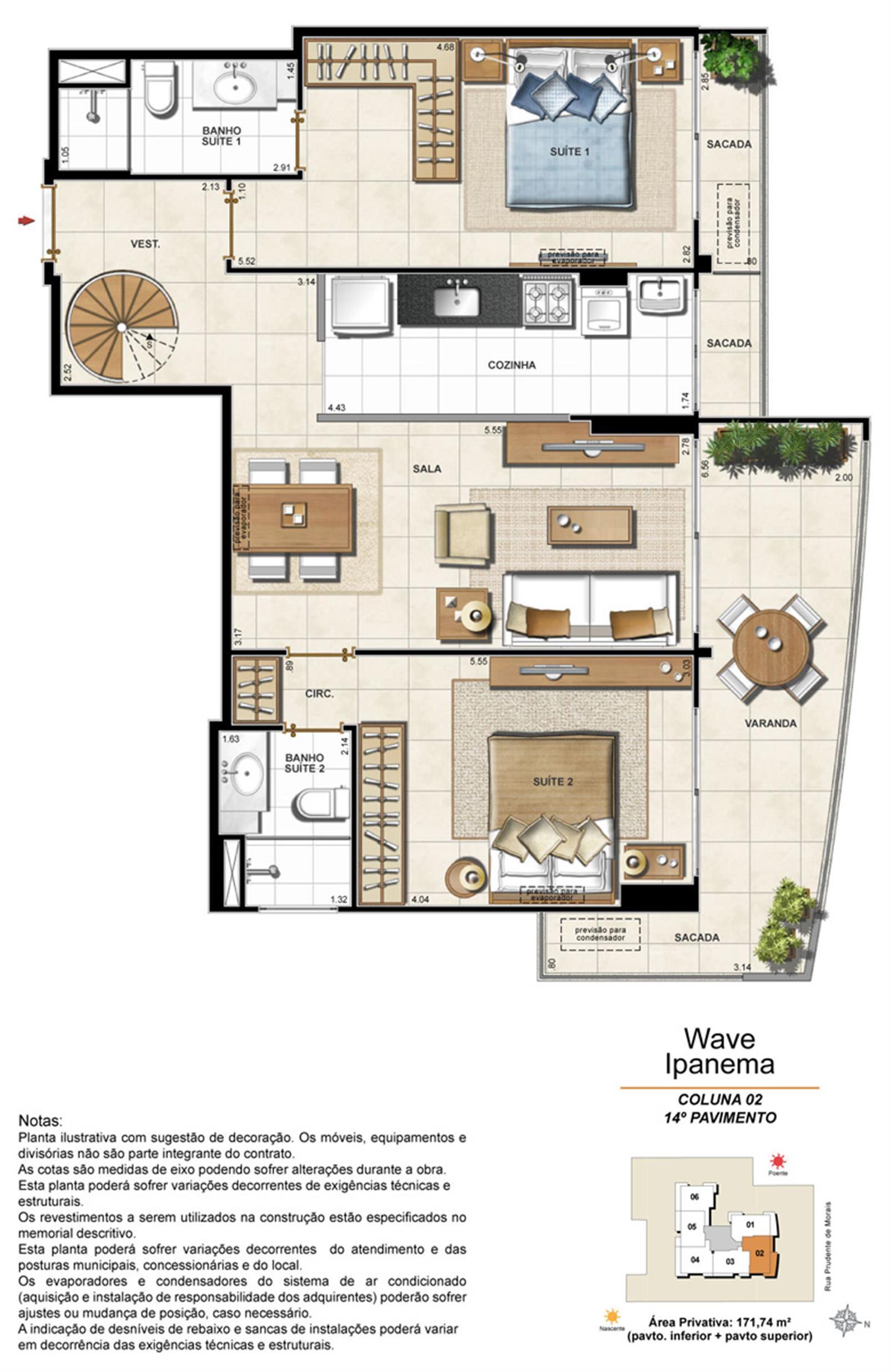 Apartamento Cobertura 1402 | Wave Ipanema – Apartamentoem  Ipanema - Rio de Janeiro - Rio de Janeiro