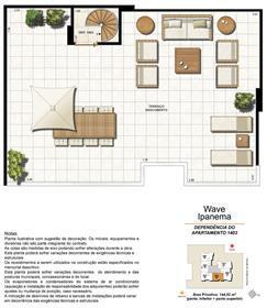 Dependência Cobertura 1403 | Wave Ipanema – Apartamento em  Ipanema - Rio de Janeiro - Rio de Janeiro