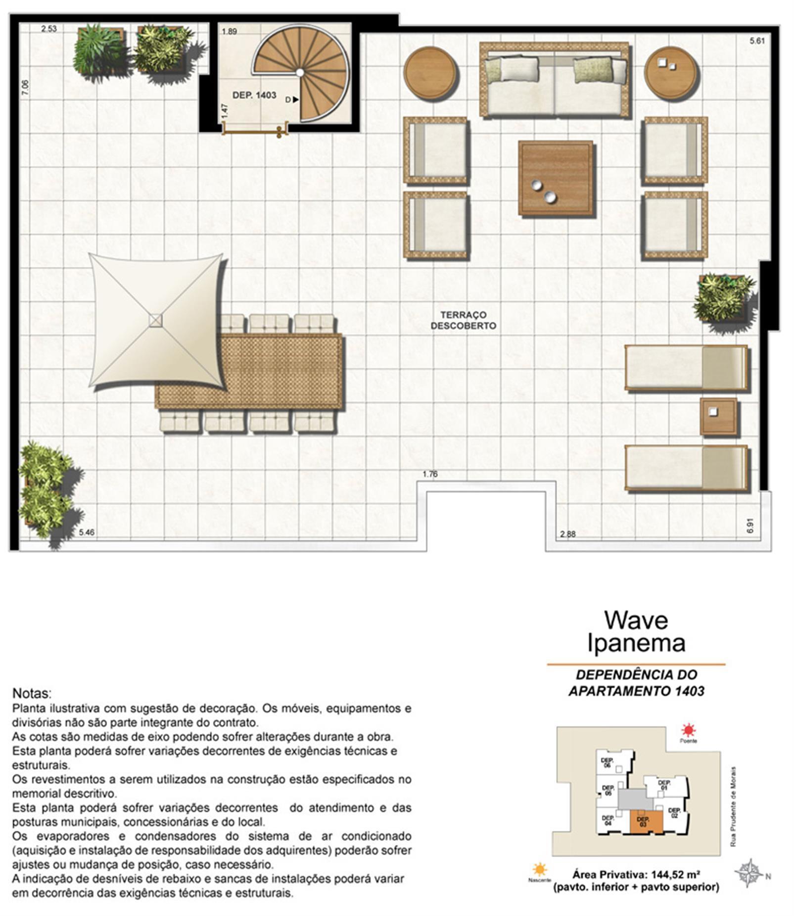 Dependência Cobertura 1403 | Wave Ipanema – Apartamentoem  Ipanema - Rio de Janeiro - Rio de Janeiro
