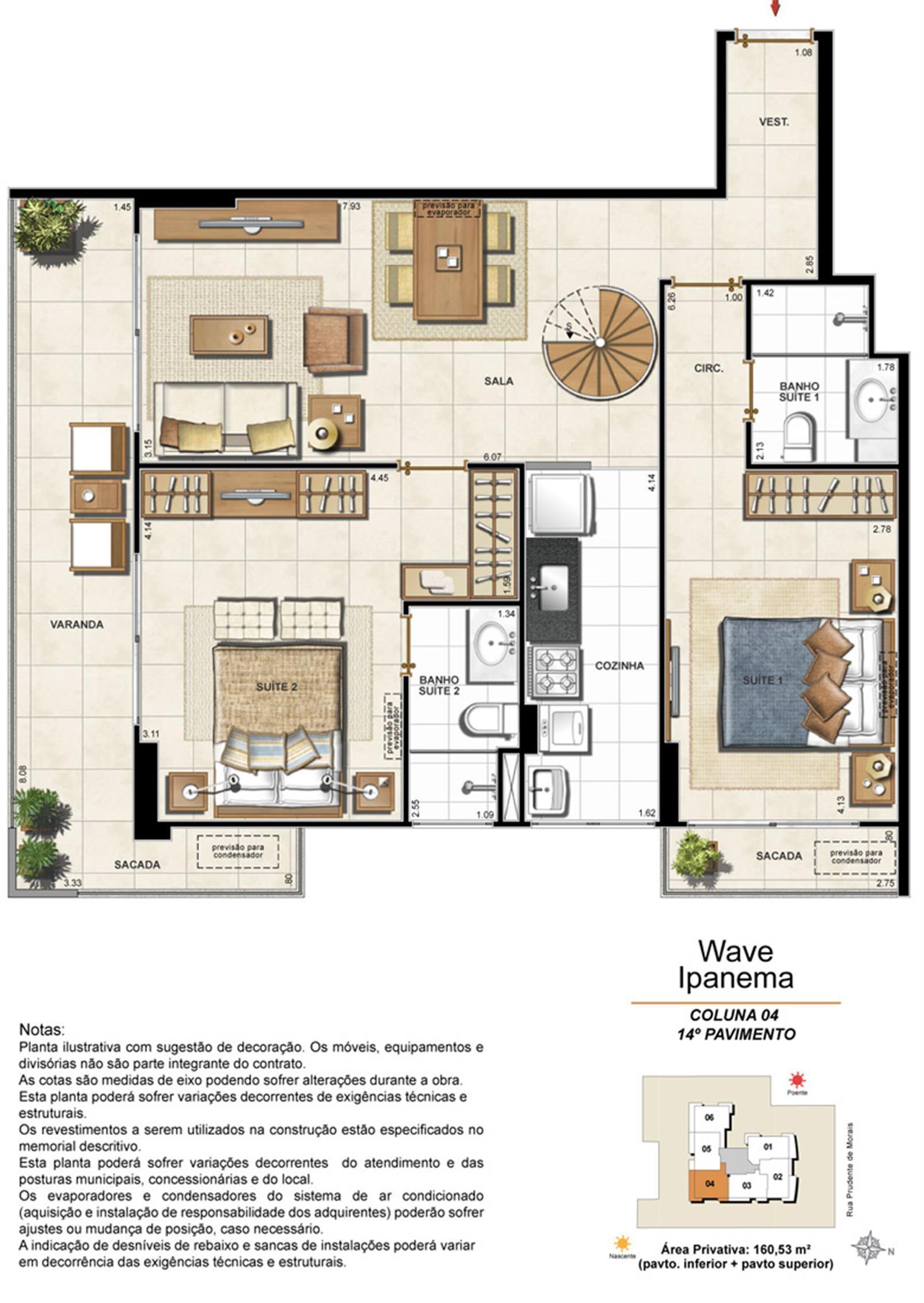 Apartamento Cobertura 1404 | Wave Ipanema – Apartamentoem  Ipanema - Rio de Janeiro - Rio de Janeiro