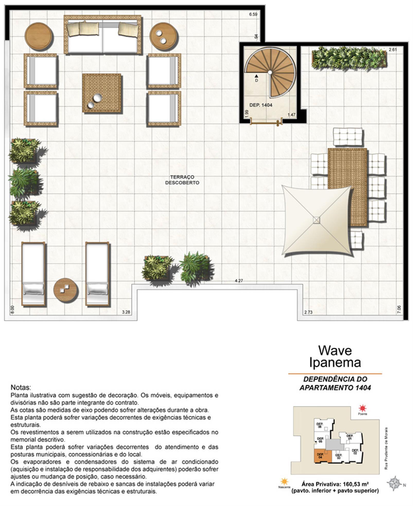 Dependência Cobertura 1404 | Wave Ipanema – Apartamentoem  Ipanema - Rio de Janeiro - Rio de Janeiro