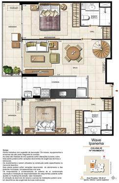 Apartamento Cobertura 1405 | Wave Ipanema – Apartamento em  Ipanema - Rio de Janeiro - Rio de Janeiro