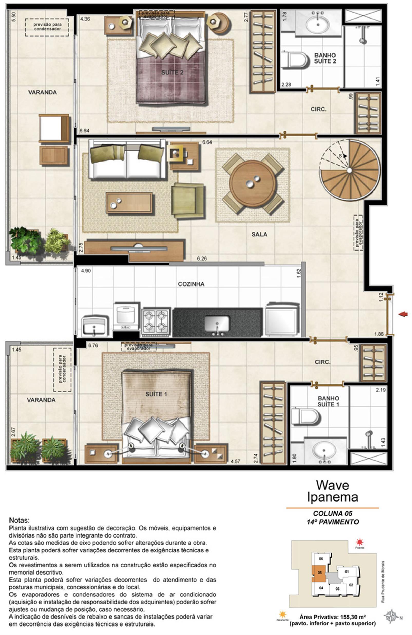 Apartamento Cobertura 1405 | Wave Ipanema – Apartamentoem  Ipanema - Rio de Janeiro - Rio de Janeiro
