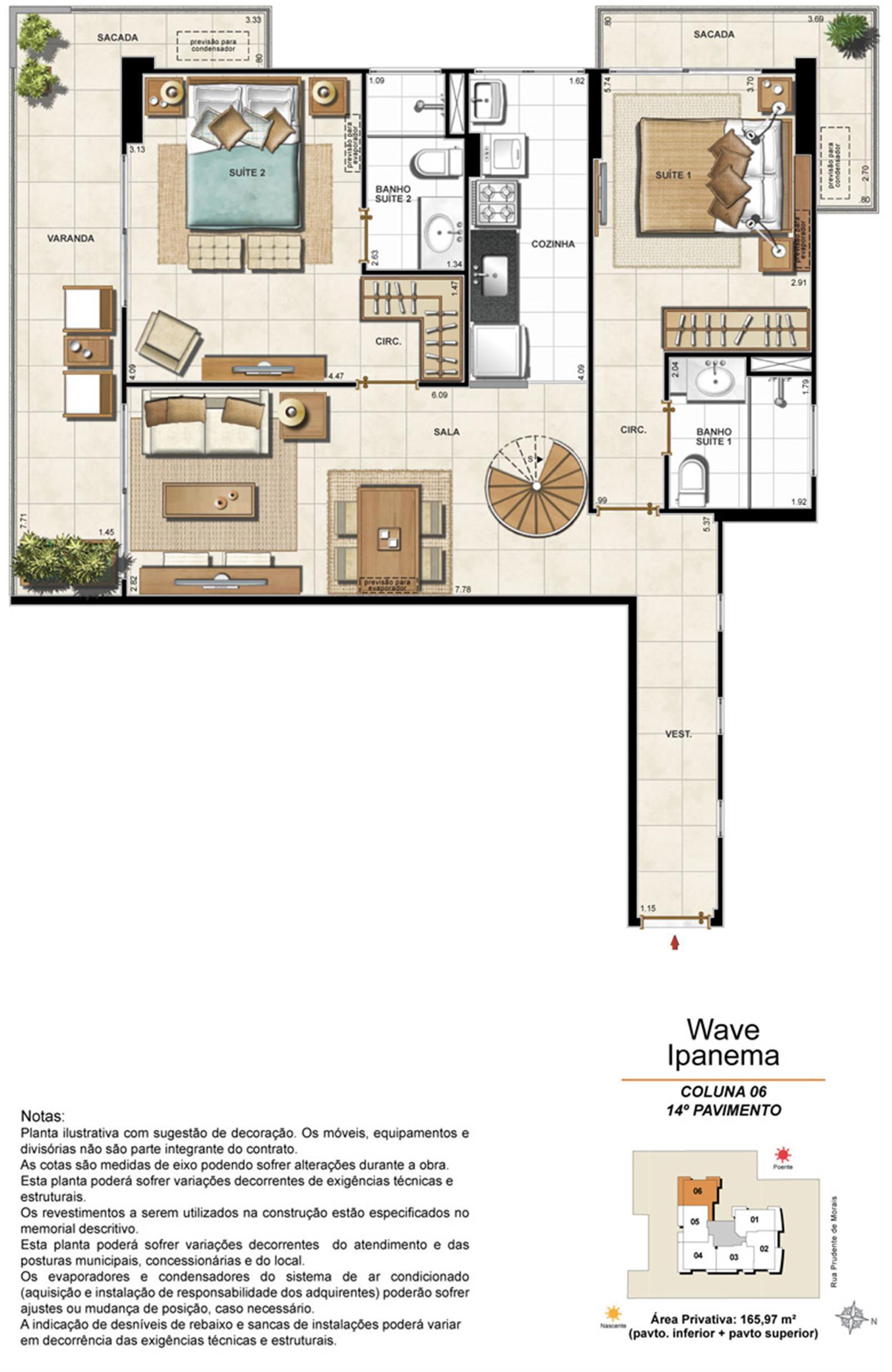 Apartamento Cobertura 1406 | Wave Ipanema – Apartamentoem  Ipanema - Rio de Janeiro - Rio de Janeiro