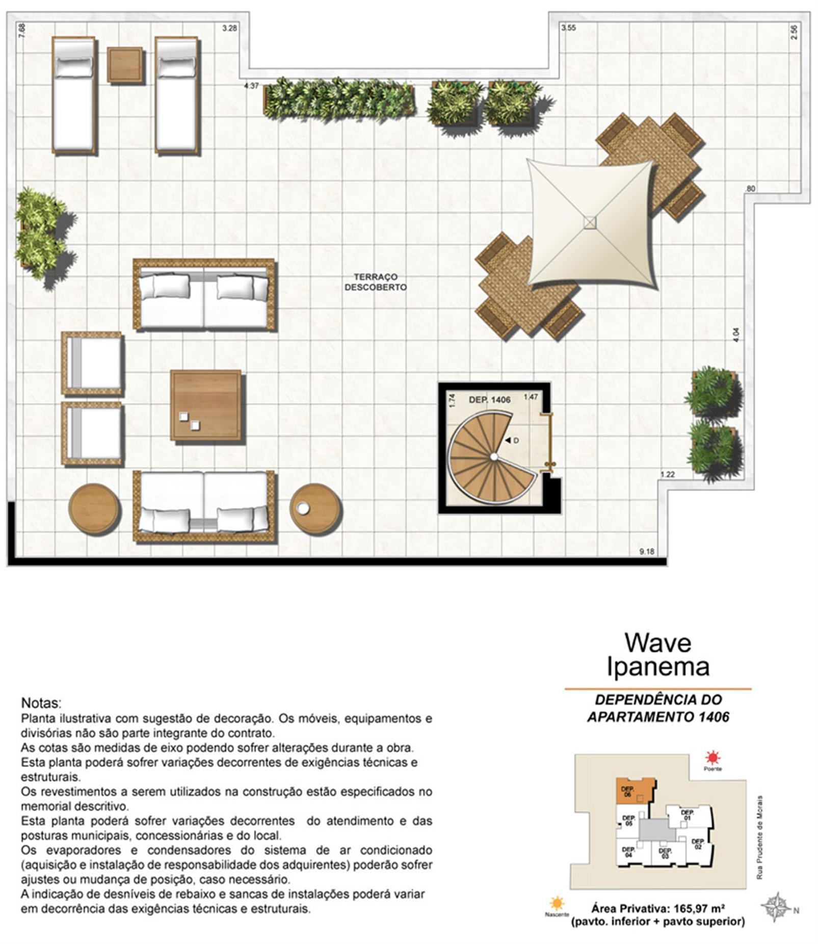 Dependência Cobertura 1406 | Wave Ipanema – Apartamentoem  Ipanema - Rio de Janeiro - Rio de Janeiro