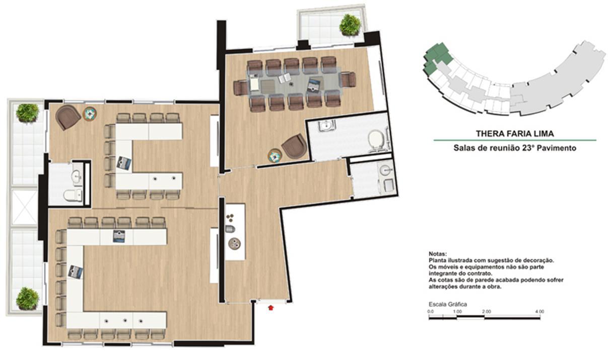 Salas de Reunião | Thera Faria Lima Pinheiros Office – Salas Comerciaisem  Pinheiros - São Paulo - São Paulo
