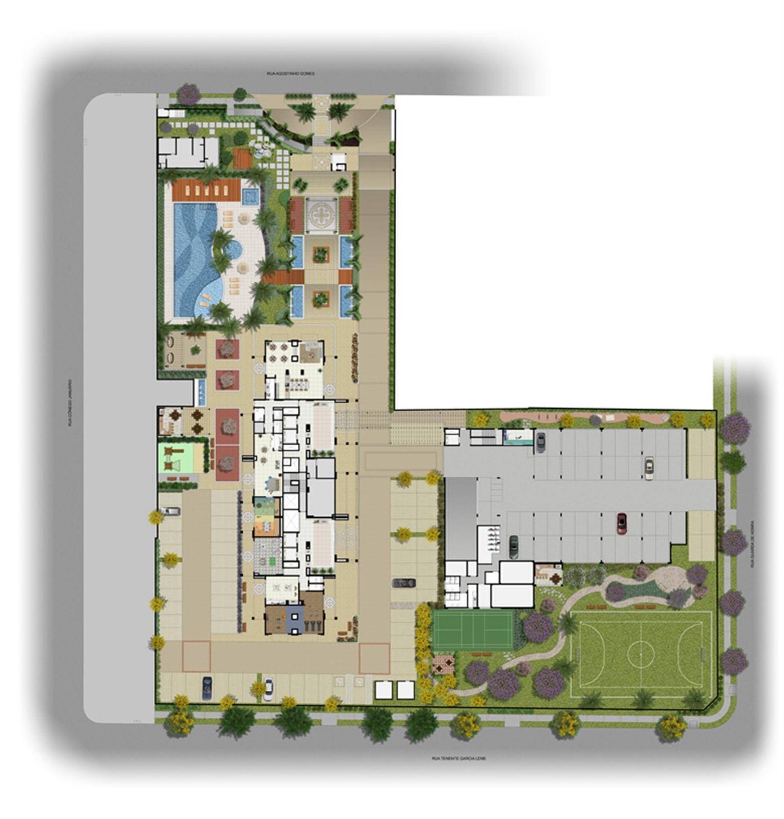 Implantação | Encontro Ipiranga – Apartamentono  Ipiranga - São Paulo - São Paulo