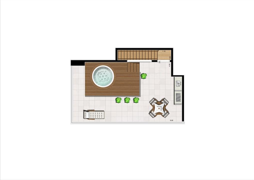 Duplex Superior de 125 m² | Home Boutique – Apartamentono  Brooklin - São Paulo - São Paulo