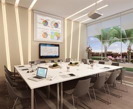 Perspectiva Ilustrada da sala de Reuniões