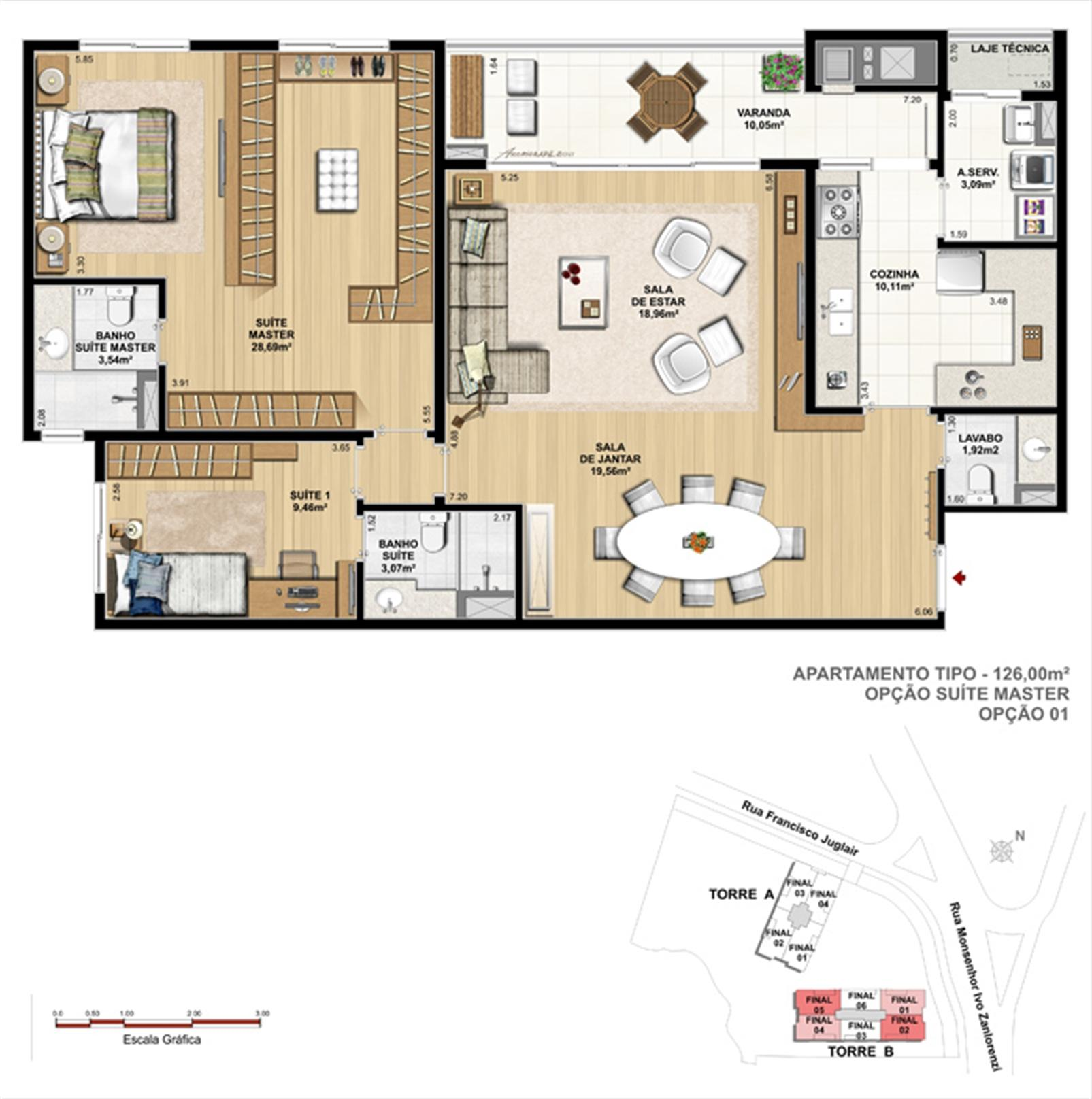 Torre 2 - 2 suítes | Reserva Juglair Ecoville – Apartamentono  Ecoville - Curitiba - Paraná