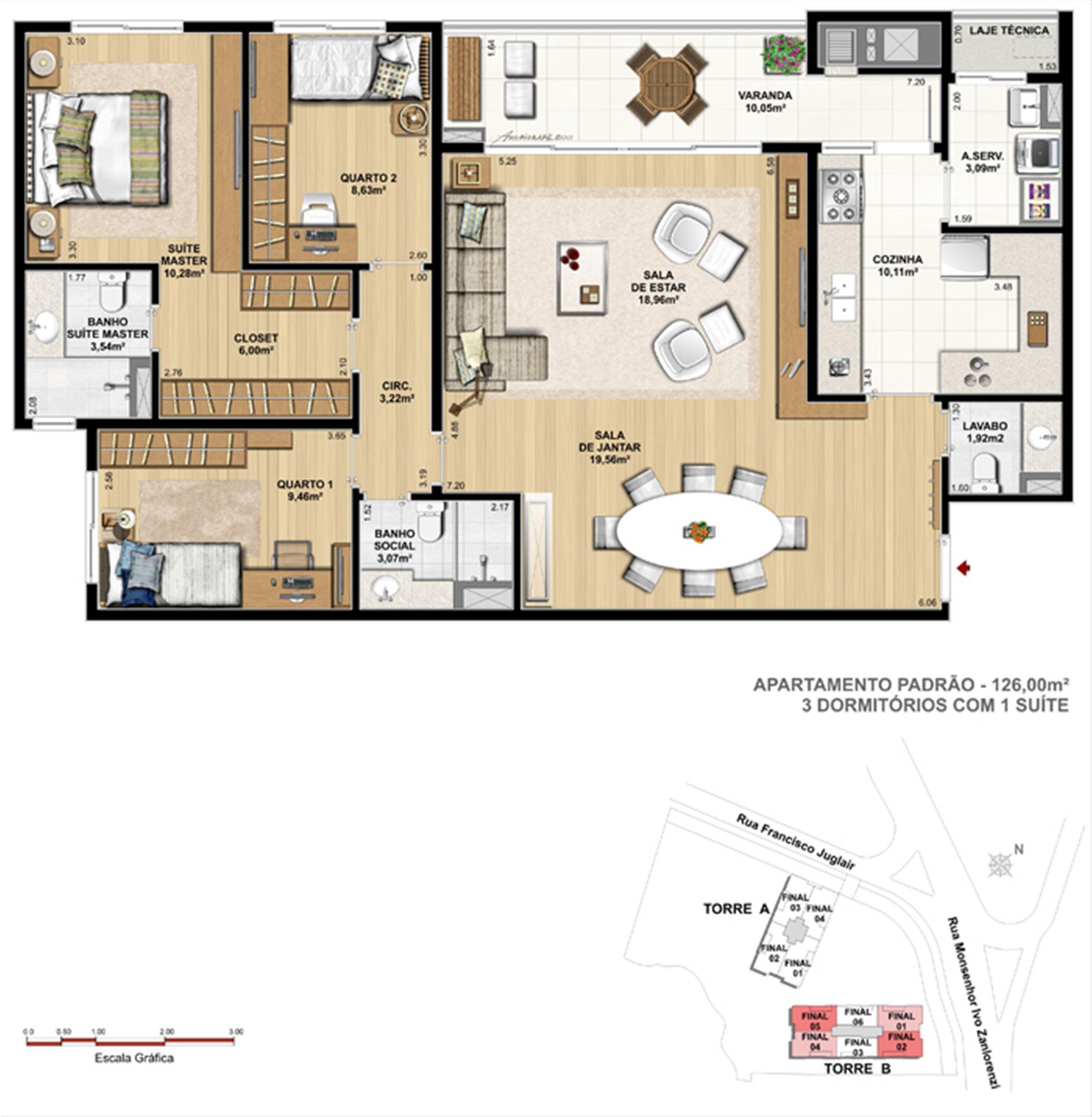 Torre 1  - 3 dormitórios com 1 suíte | Reserva Juglair Ecoville – Apartamento no  Ecoville - Curitiba - Paraná
