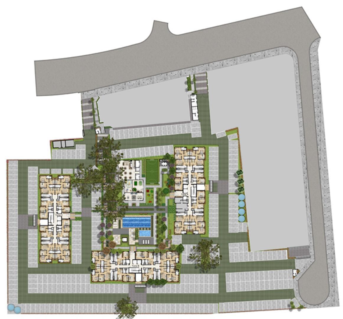Perspectiva Ilustrada da Implantacao | Way – Apartamento no  Partenon - Porto Alegre - Rio Grande do Sul